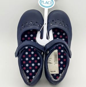 NWT Childrens Place Navy Velcro Flats